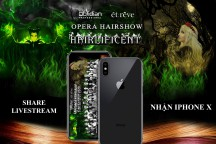 Sở hữu IPHONE X khi share livestream Opera hairshow Obsidian 2018 – HAIRLIFICENT