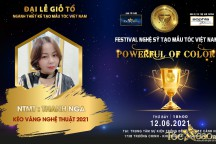 NTMT Thanh Nga nhận đề cử Kéo vàng nghệ thuật Đại lễ giỗ tổ ngành tóc Việt Nam 2021