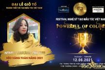 NTMT Trương Thị Thu vinh dự nhận được đề cử giải thưởng Kéo vàng toàn năng tại Festival nghệ sỹ tóc châu Á 2021